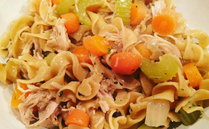 Delish Chicken and Noodles Recipe